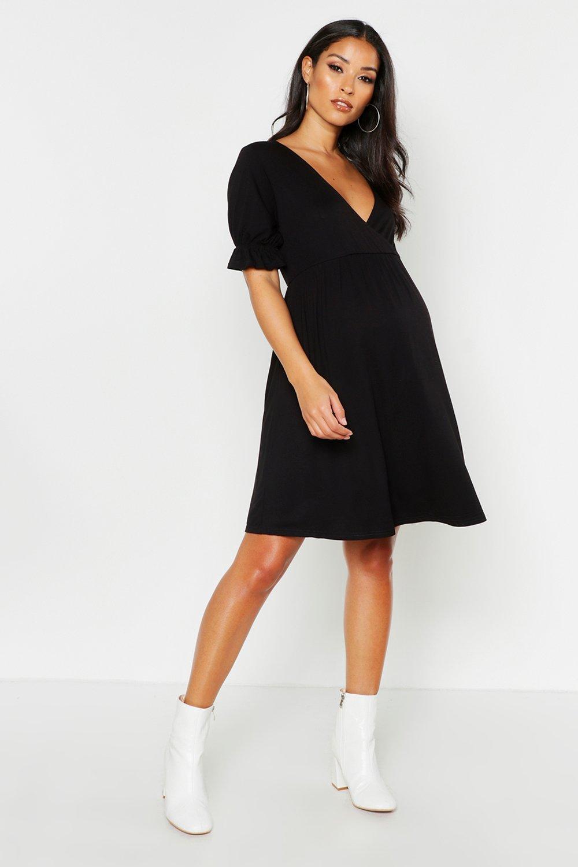 Купить со скидкой Свободное платье с рукавами с оборками для беременных