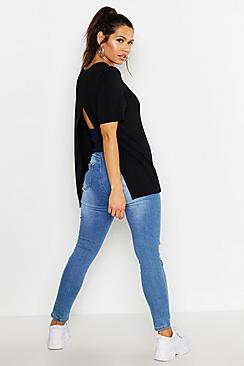 Maternity Open Back Grow With Me T-Shirt