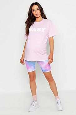Maternity Baby Slogan T-Shirt