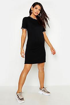 Maternity Leopard Ringer T-Shirt Dress