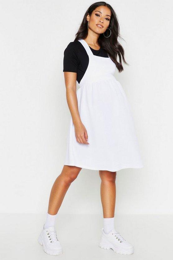 Maternity Cross Back Pinafore Skater Dress