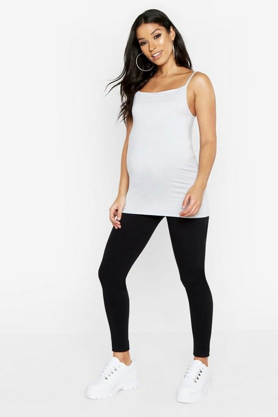 Womens Light grey Maternity 2 Pack Cami And Legging