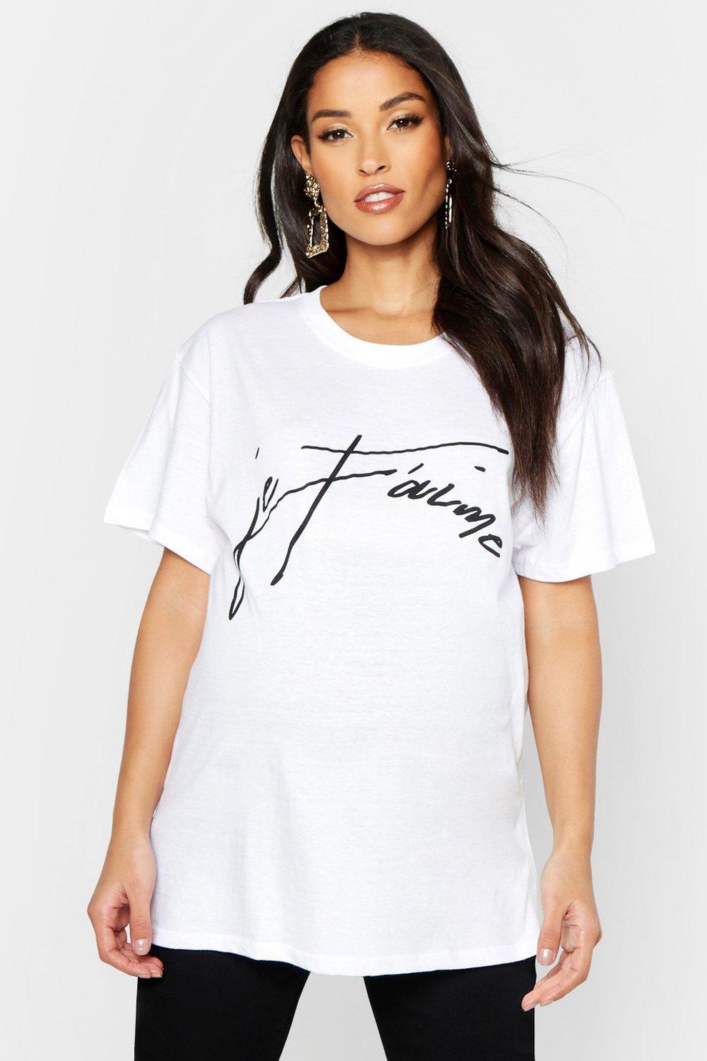 757f50c61 Camiseta con eslogan Je T aime premamá