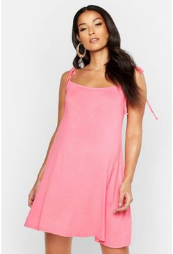 Womens Coral Maternity Strap Detail Sundress