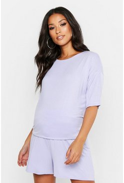 Womens Lilac Maternity Mix and Match Pyjama Flippy Shorts