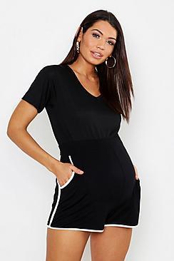 Maternity Contrast Stripe Runner Short