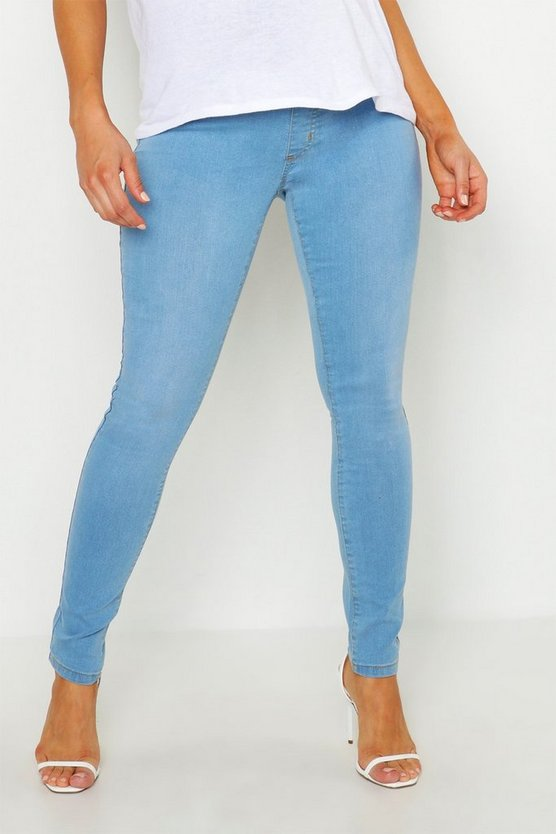 Womens Light blue Maternity Washed Jegging