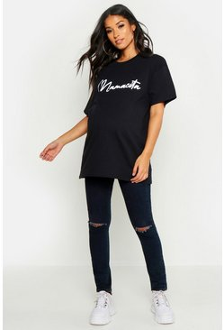 Womens Black Maternity 'Mamacita' Slogan Tee