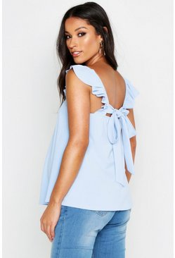 Womens Sky Maternity Frill Shoulder Back Detail Cami