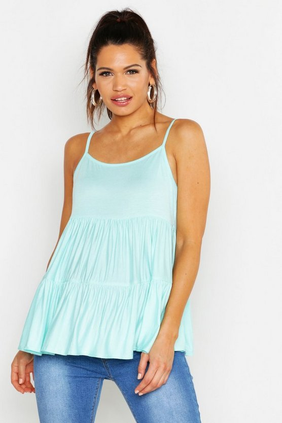 Pale blue Maternity Strappy Smock Top