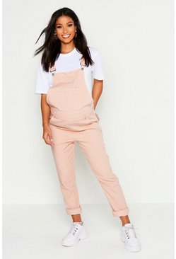 Womens Dusky pink Maternity Denim Dungaree