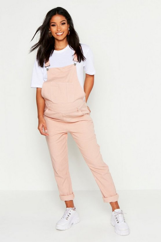 Womens Dusky pink Maternity Denim Overall
