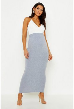 Maternity Over The Bump Maxi Skirt, Grey, Donna