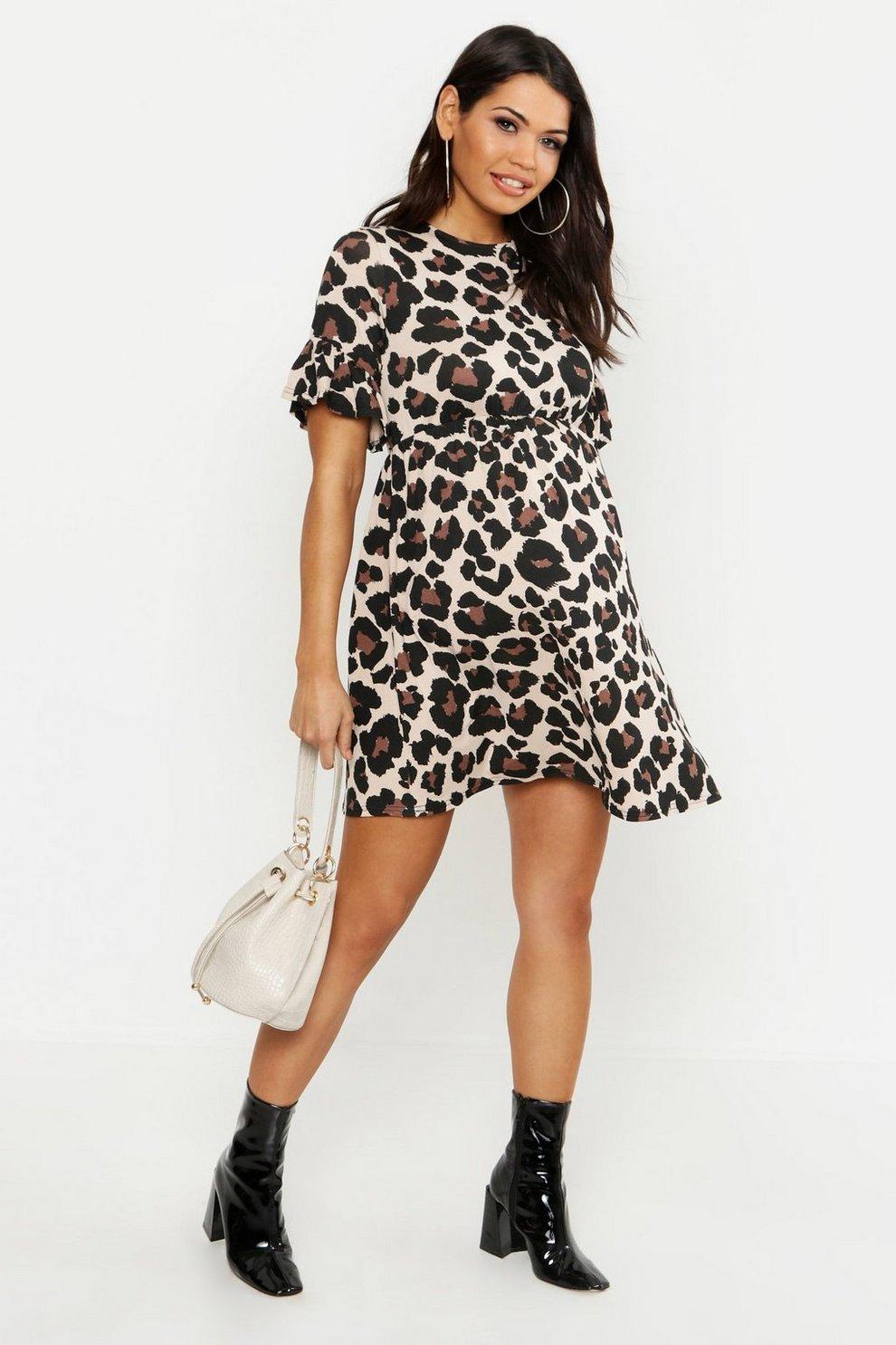 Maternity Leopard Smock Dress  1e91fa4c0