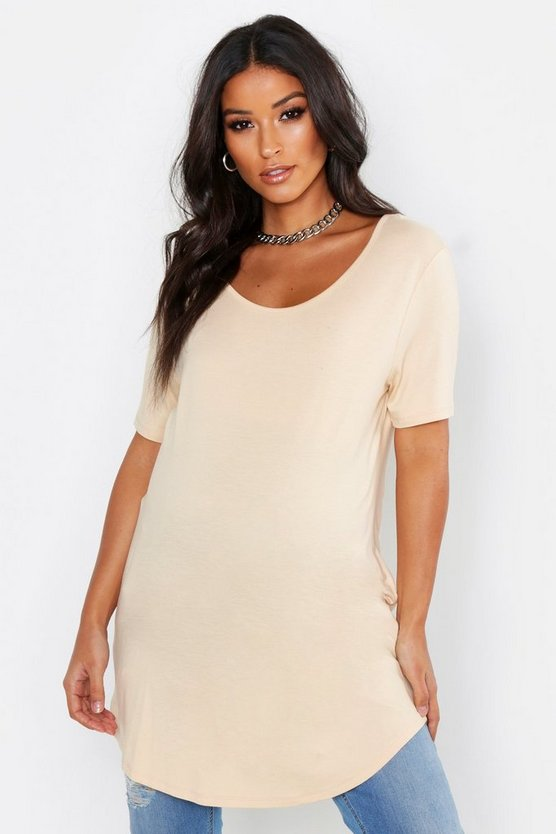 Maternity Oversized Basic T-Shirt, Ecru, Donna