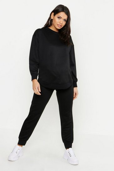 Womens Maternity Oversized Sweat Set