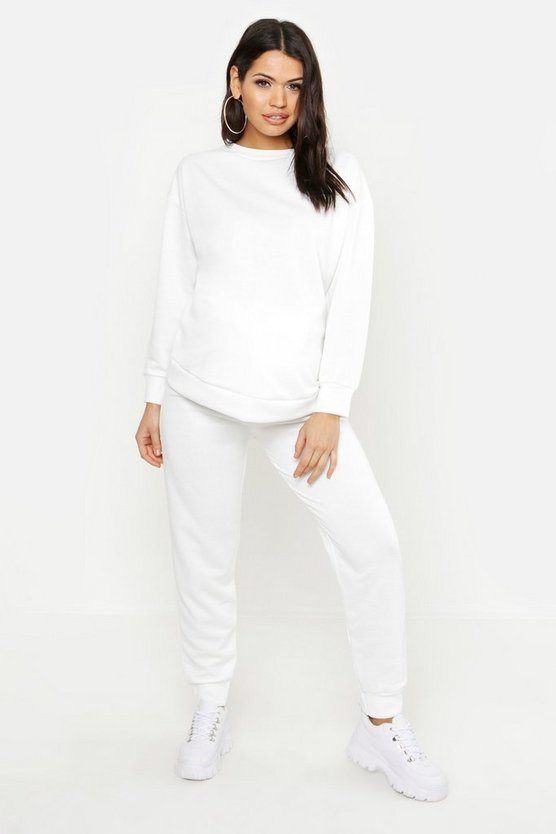Maternité - Ensemble sweat oversize, Blanc, Femme