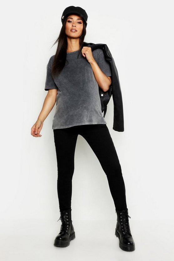 Maternity Acid Wash Oversized T-Shirt