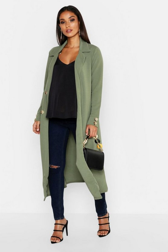 Maternity Longline Button Detail Duster