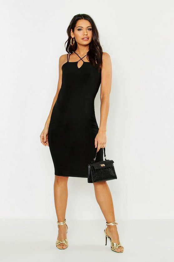 Maternity Strap Detail Bodycon Dress