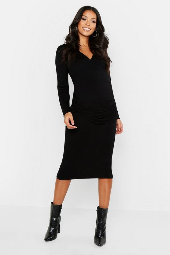 Maternity Nursing Wrap Bodycon Dress