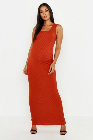 c92f604afc Maternity Scoop Rib Maxi Dress