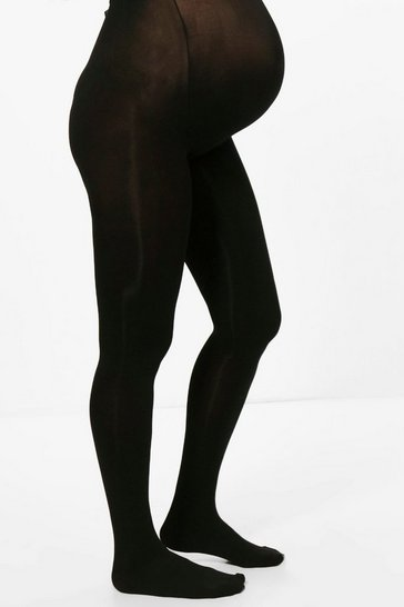 Womens Black Maternity 100 Denier Tights