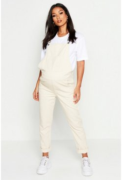 Womens Ecru Maternity Denim Overall