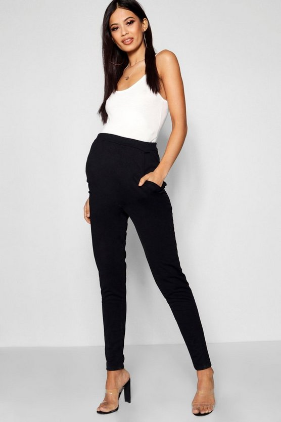 Black Maternity Tailored Slim Leg Pants