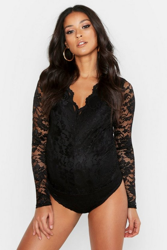Maternity Lace Bodysuit