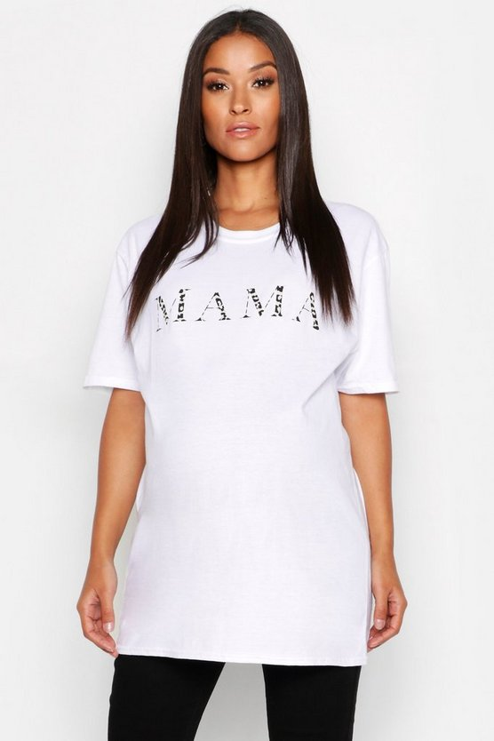 Womens White Maternity Mama T-Shirt