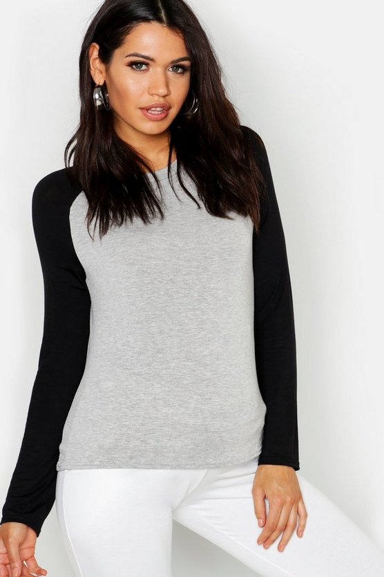 Maternity Raglan Long Sleeve Tee