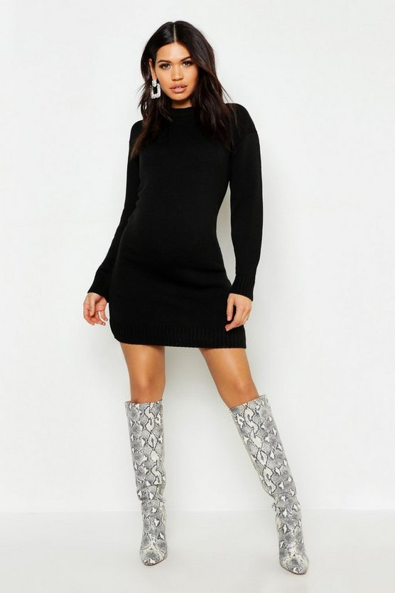 Maternity Knitted Jumper Dress