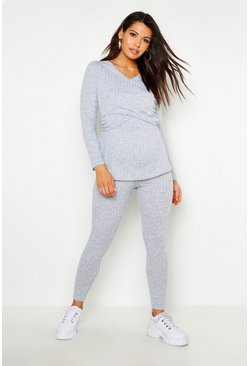 Womens Maternity Nursing Wrap Top Lounge Set