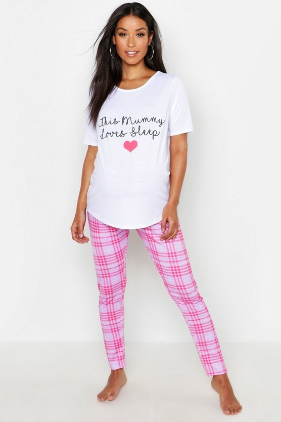 Womens Maternity This Mummy Loves To Sleep PJ