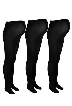 Womens Black Maternity 3 Pack 120 Denier Tights