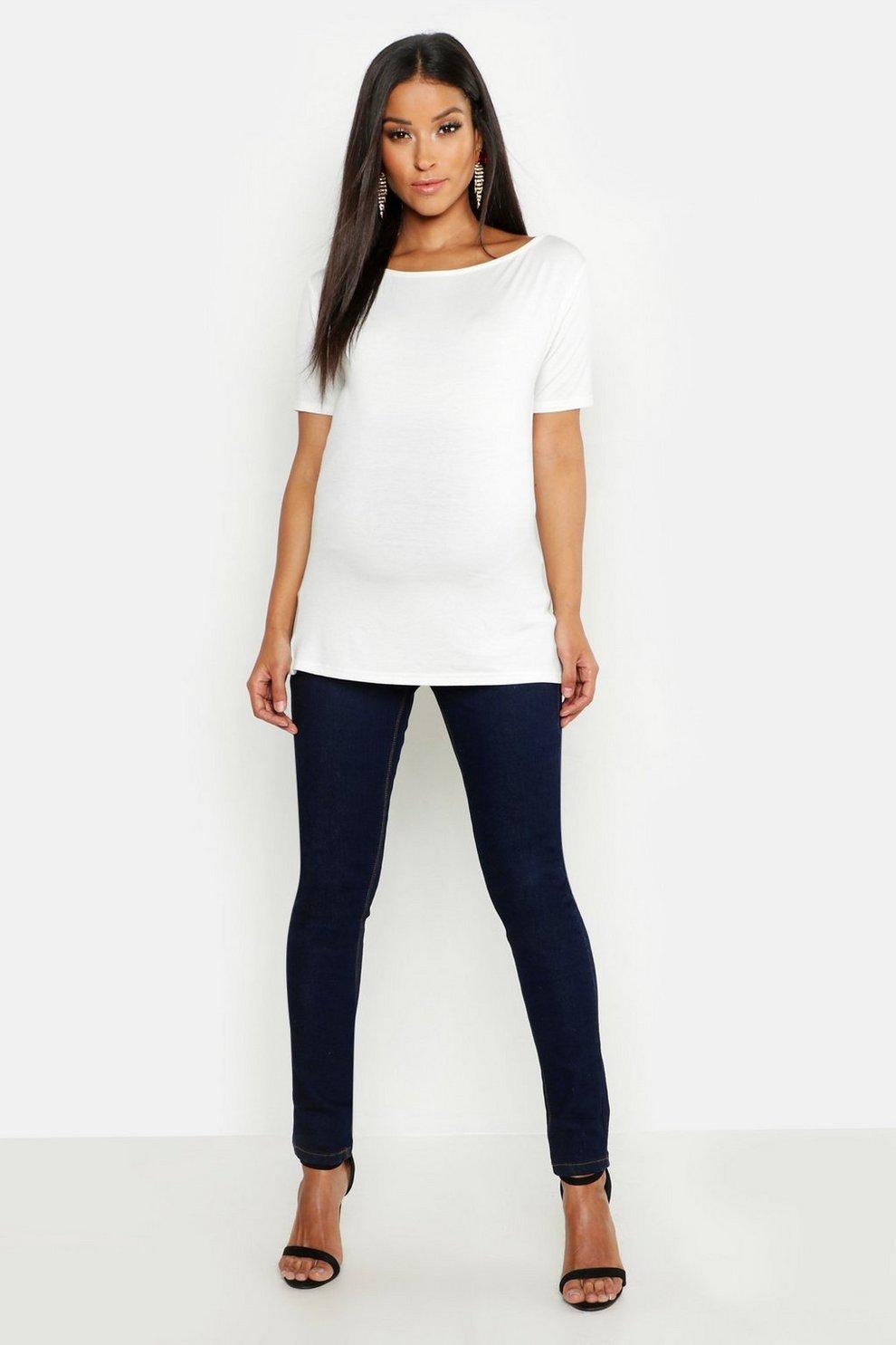 494a32ada600e Womens Indigo Maternity Over The Bump Skinny Super Stretch Jean