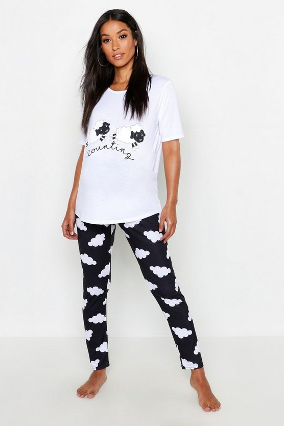 Maternity Counting Sheep PJ Set