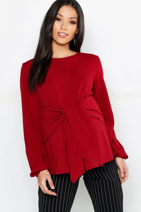 Maternity Tie Front Smock Top
