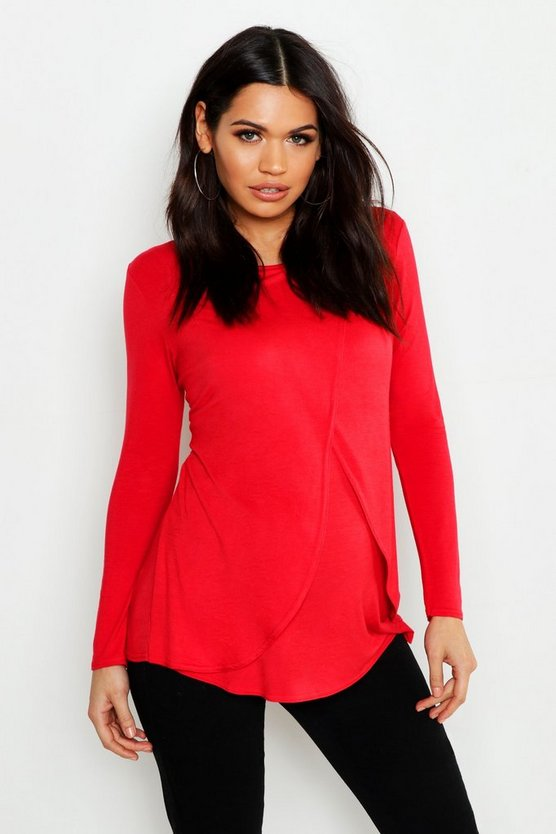 Maternity Long Sleeved Nursing Top