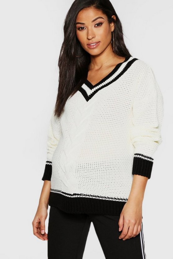 Maternity VNeck Knitted Jumper