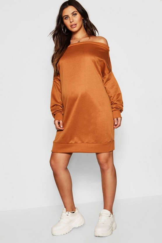 Womens Maternity Bardot Sweat Dress