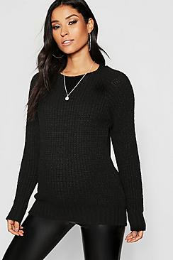 Maternity Soft Knit Crew Sweater
