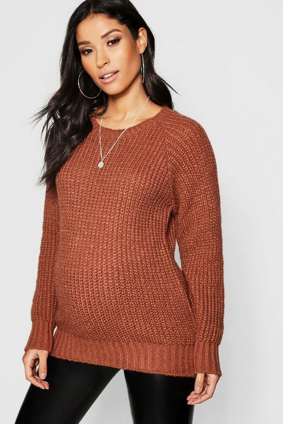 Maternity Soft Knit Crew Jumper