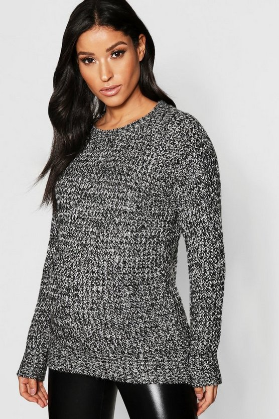 Maternity Soft Twist Knit Marl Jumper