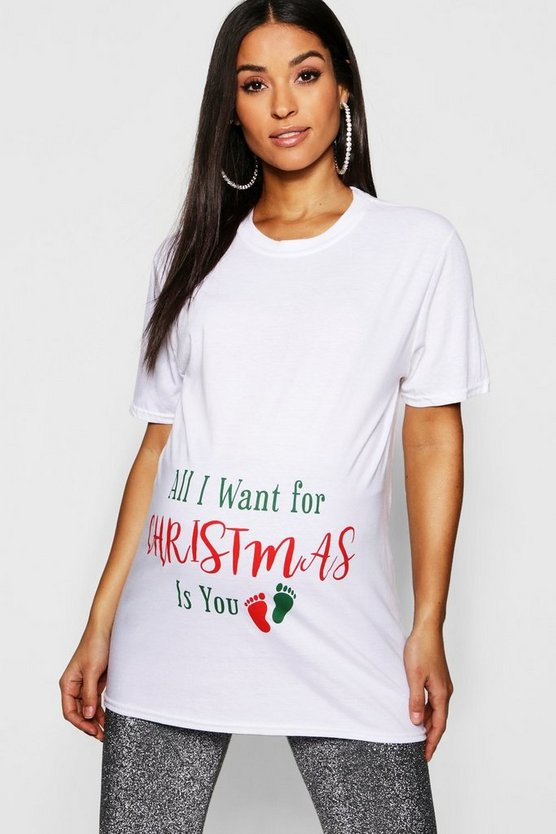 "Mama T-Shirt mit ""All I Want For Christmas""-Motiv"