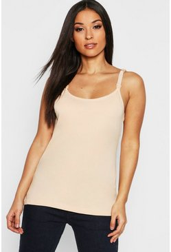 Womens Nude Maternity Nursing Cami Top
