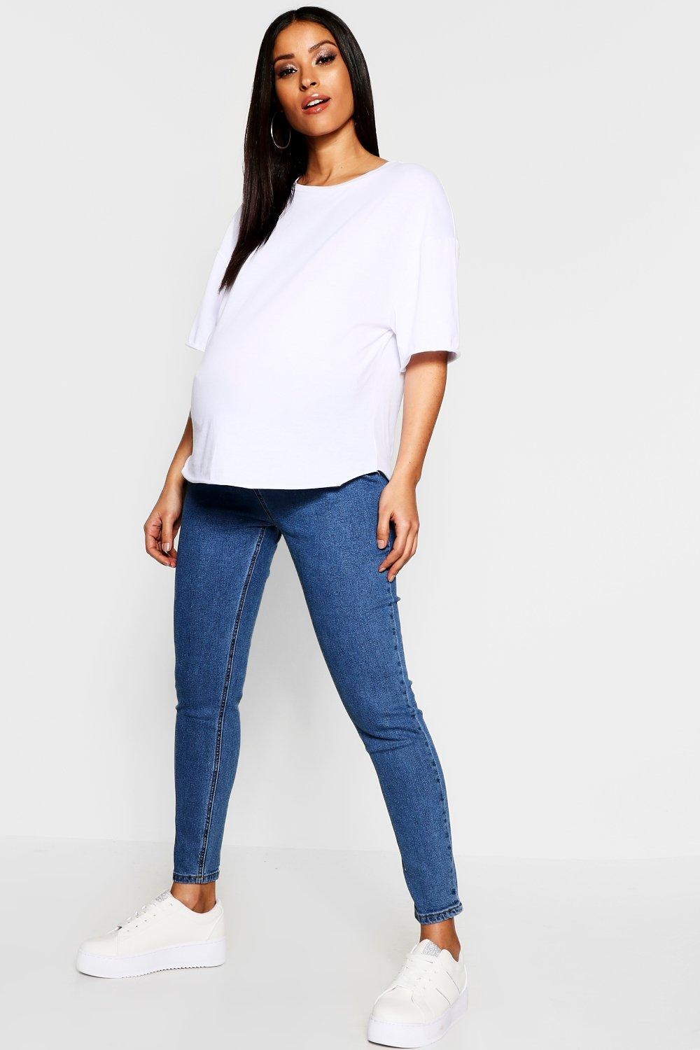Maternity High Waist Over The Bump Skinny Jegging