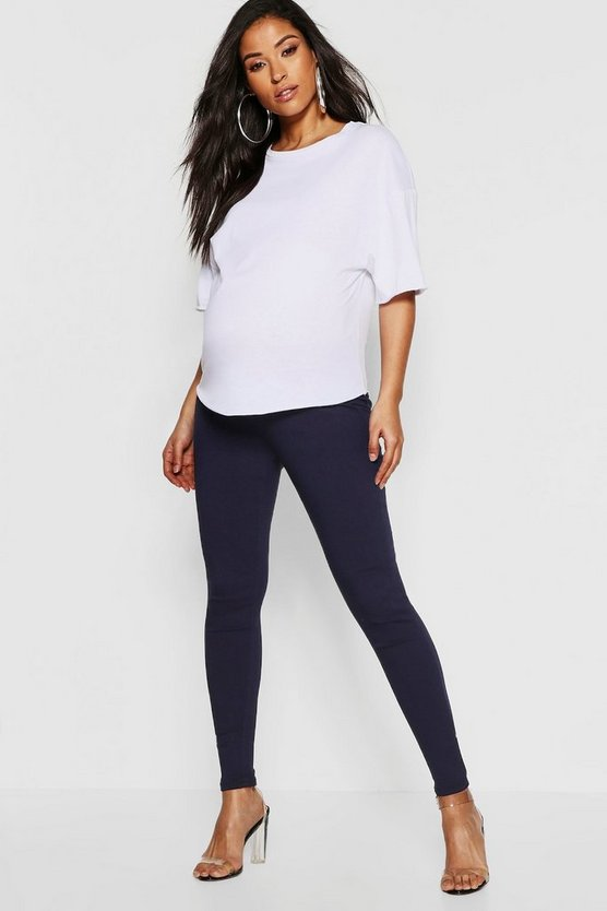 Womens Indigo Maternity Under The Bump Skinny Jegging