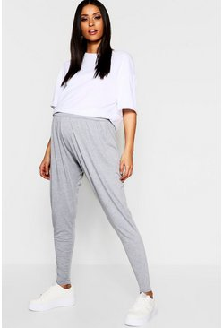 Womens Grey marl Maternity Over The Bump Hareem Joggers